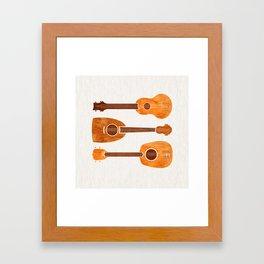 Hawaiian Ukuleles Framed Art Print