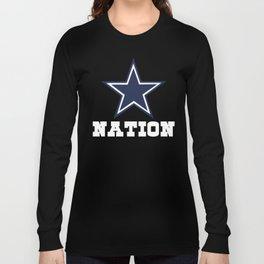 Dallas Nation Shirt - Gift For Dallas Fans Long Sleeve T-shirt
