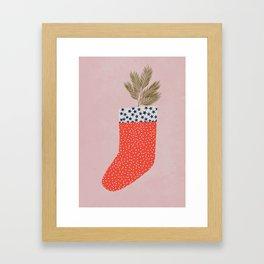 CHRISTMAS SOCK Framed Art Print