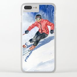 Winter Sport Clear iPhone Case