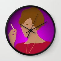 mad men Wall Clocks featuring Joan Holloway - Mad Men by Tom Storrer