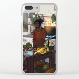 Modern Male Witch Kitchen Clear iPhone Case
