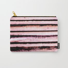 Pink Stripes Carry-All Pouch