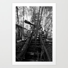 Abandoned Roller Coaster Art Print