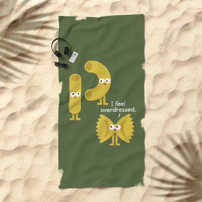 Pasta Party Beach Towel