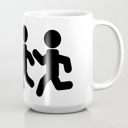 Stickfigures Running Coffee Mug