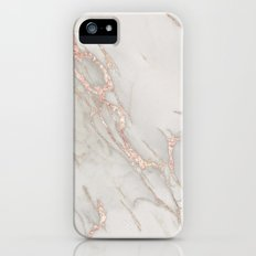 Marble Rose Gold Blush Pink Metallic by Nature Magick Slim Case iPhone (5, 5s)