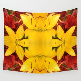 """""""A Gathering of Lilies"""" Remix - 4 (3-1) [D4469~57] Wall Tapestry"""