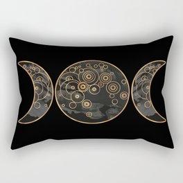 Triple Moon - Dark Side Rectangular Pillow