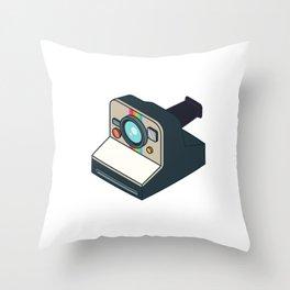 Retro Polaroid Throw Pillow