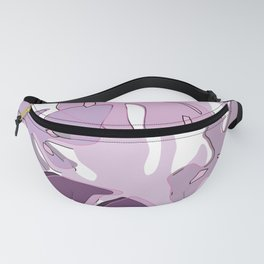 monstera pink Fanny Pack