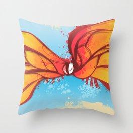 Digital Butterfly Throw Pillow