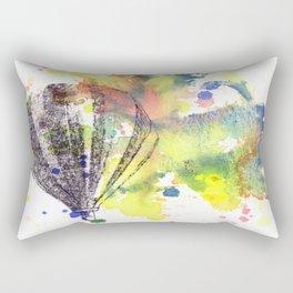 Hot Air Balloon Rising in Color Rectangular Pillow