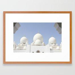 Sheikh Zayed Grand Mosque Framed Art Print