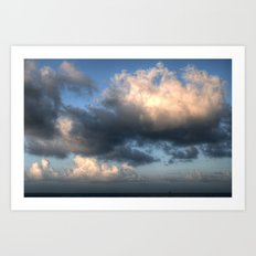 The sea... Art Print
