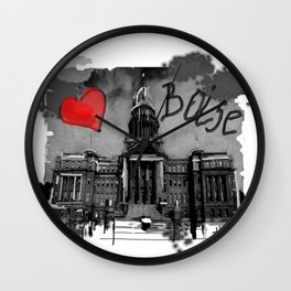 I love Boise Wall Clock