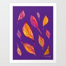 Fall pattern, autumn pattern, Art Print
