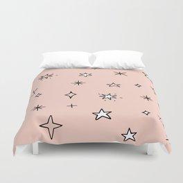 cute sparkly stars Duvet Cover