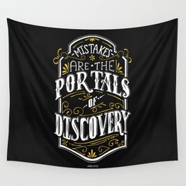 Lab No. 4 - Mistakes are the portals of discovery - James Joyce Corporate Startup Quotes Poster Wall Tapestry