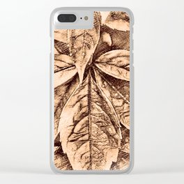Warm Toned Sepia Sketcing Clear iPhone Case