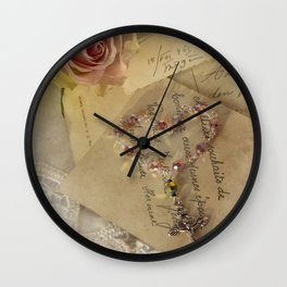 Love Pray  Forgive Believe Wall Clock