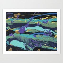 Gold Splatter Art Print