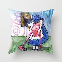 Alice II Throw Pillow