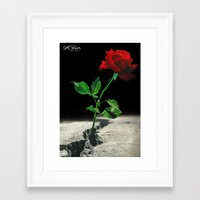 2pac Framed Art Prints featuring The Rose that Grew from the Concrete by PeterPerlegas Fine Art
