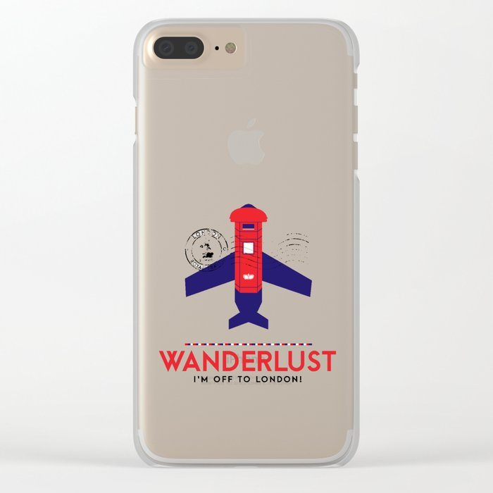 Royal Travel - London Wanderlust Clear iPhone Case