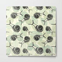 Snails Metal Print
