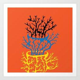 matisse coral Art Print