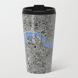 Map of London Thames Drawing Travel Mug
