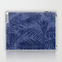 Tropical pattern on blue jeans Laptop & iPad Skin