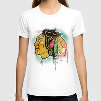 blackhawks T-shirts featuring chicago blackhawks hockey by abstract sports