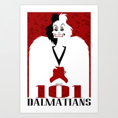 101 Dalmatians (Movie Poster) Art Print