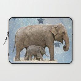 Elephant with Baby Laptop Sleeve