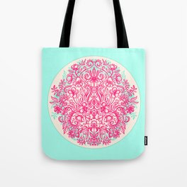 Spring Arrangement - floral doodle in pink & mint Tote Bag