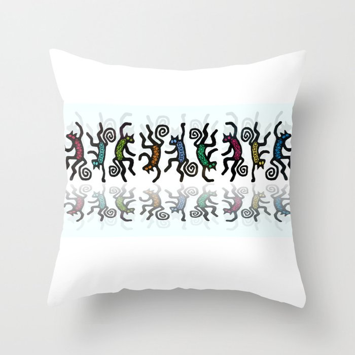 DANCING CATS LINE DANCE Throw Pillow