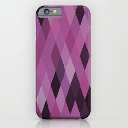 Muted Berry Color Harlequin Pattern iPhone Case
