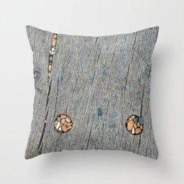 Beach Pebble Abstract Throw Pillow