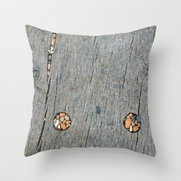 Beach Pebble Abstract Throw Pillow