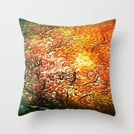 Windblown Cherry Blossom Throw Pillow