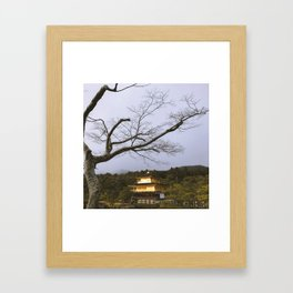 Golden Pavillion in Kyoto, Japan Framed Art Print