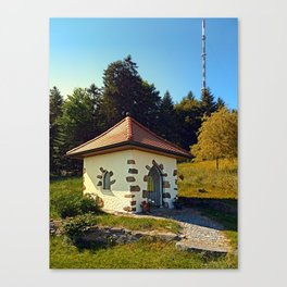 Small chapel up on the mountain Canvas Print