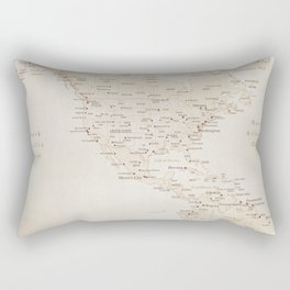 Vintage sepia map of America - PRINTS in L and XL only Rectangular Pillow