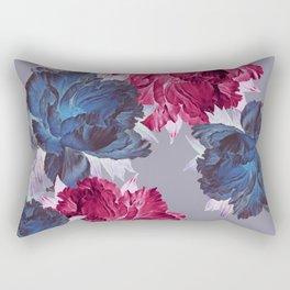 big floral on gray Rectangular Pillow