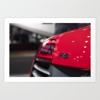 audi Art Prints featuring Audi R8 by Fresh Method Photography