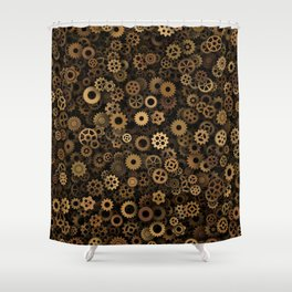 Steampunk cogwheels Shower Curtain