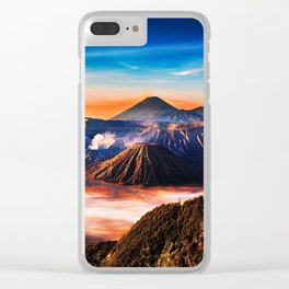 Mount Bromo Clear iPhone Case