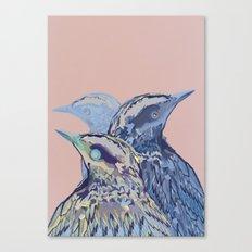 Digital Watercolor Birds Canvas Print